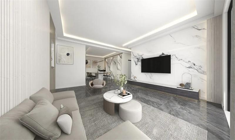 案例 | 123㎡3室2厅,经典黑白灰,纯粹简约的现代空间