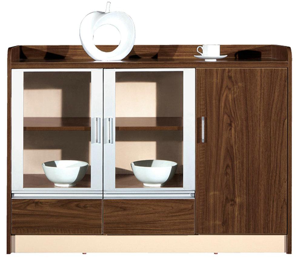 胡桃色茶水柜