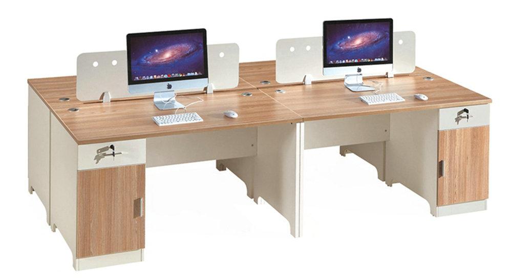歐橡木四人位桌屏