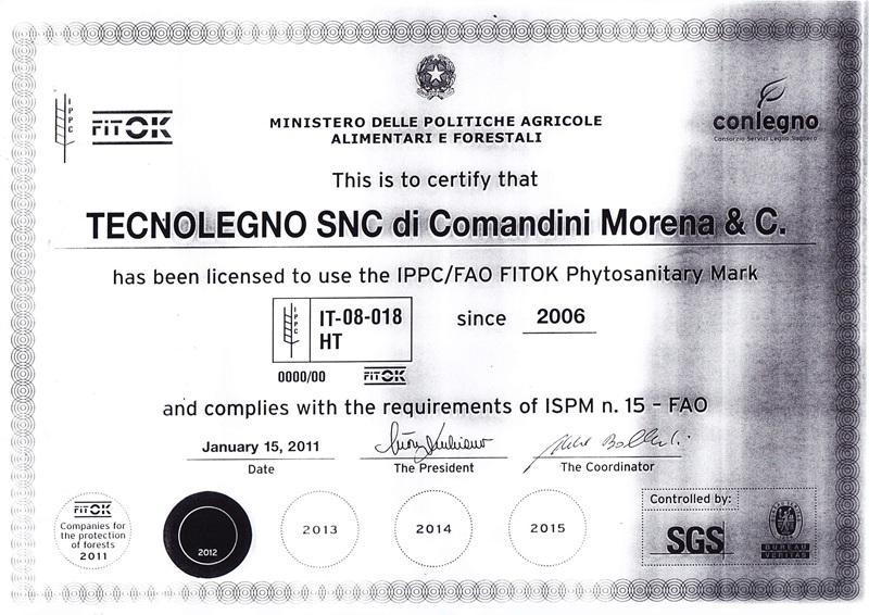 Tecnolegno - certificazione fao 1 APHIS-(1)