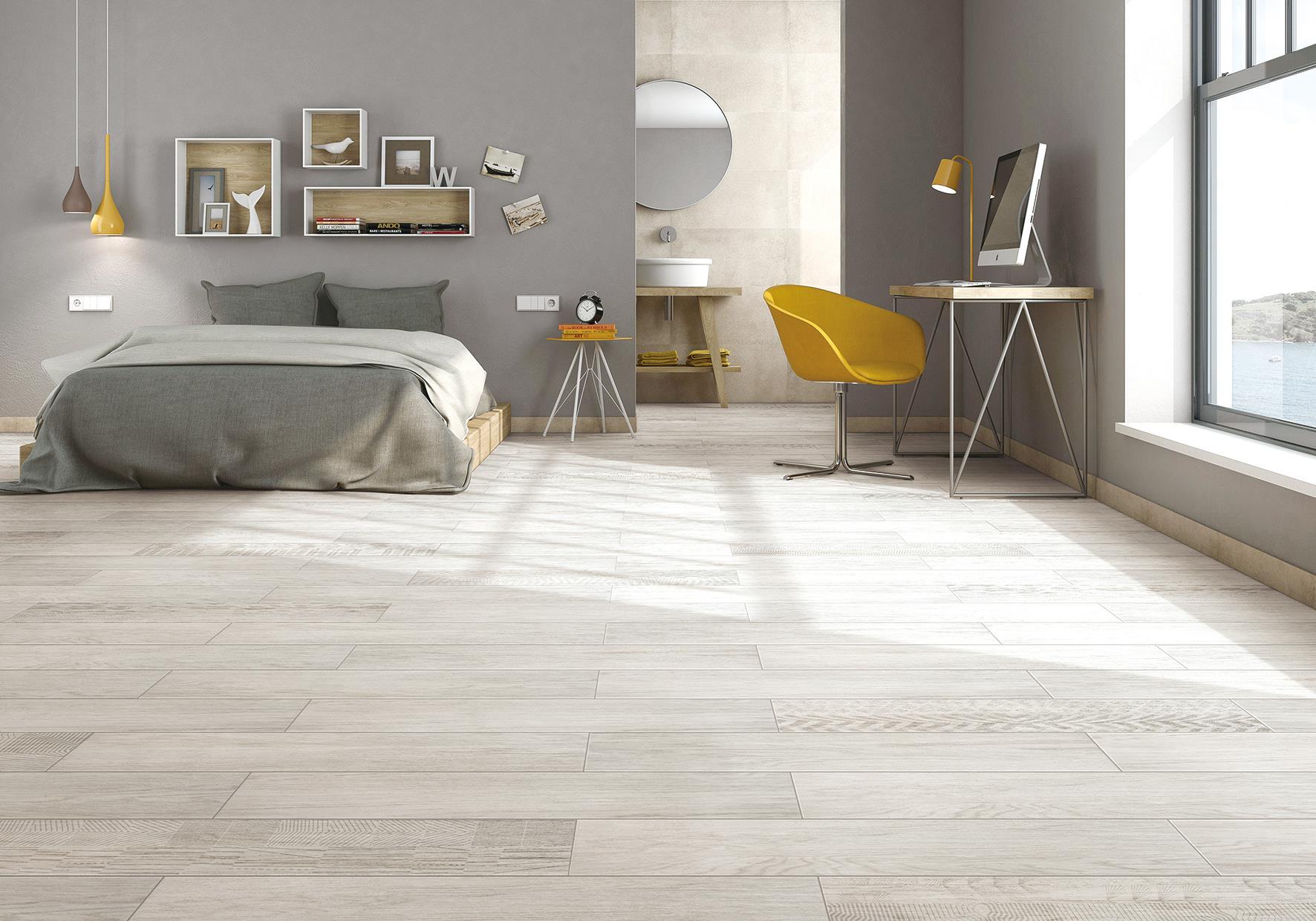 最美卧室,就用木纹砖!