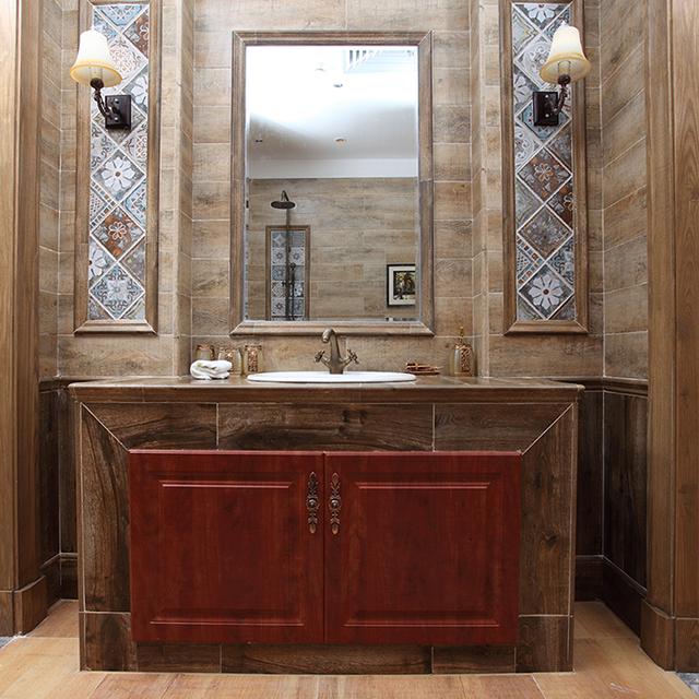 卫浴间+木纹砖,超乎你的想象!