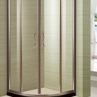 兩固兩移扇形淋浴房