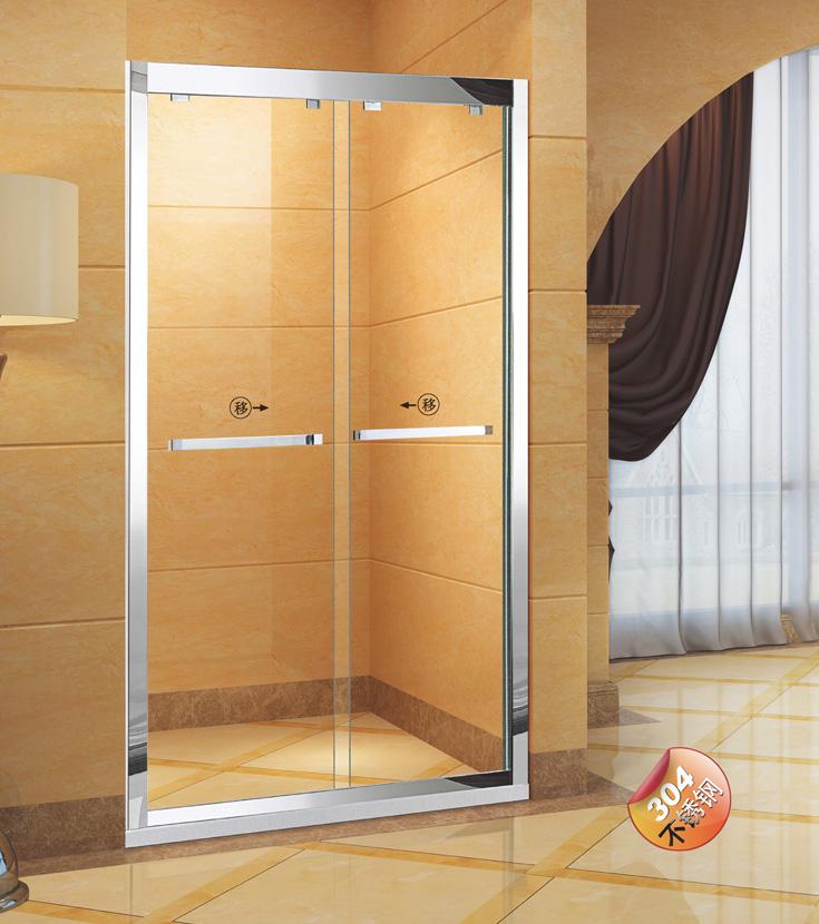 雙活動一字屏風淋浴房