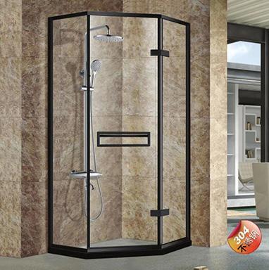 兩固一活鉆石形淋浴房