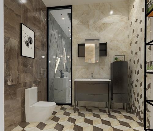 卫生间瓷砖,选浅色更好看!