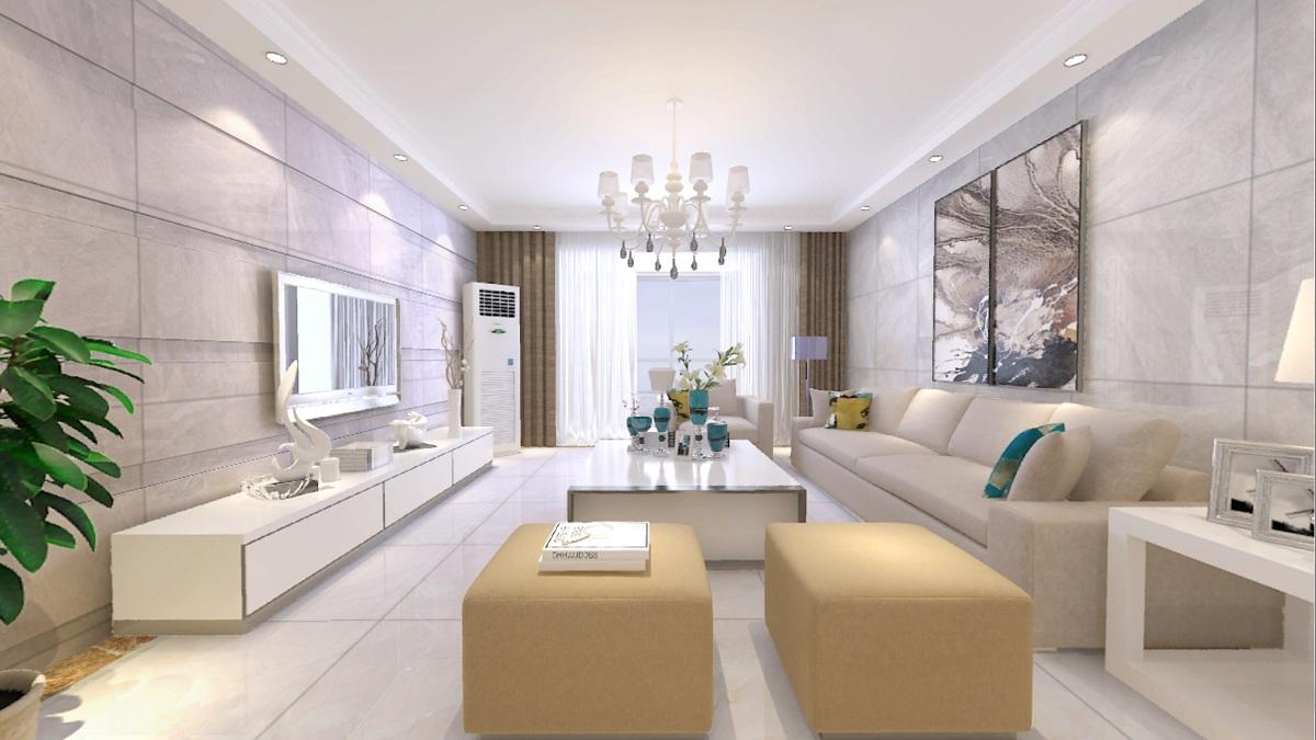 当客厅用上高档瓷砖,会是怎样的效果?