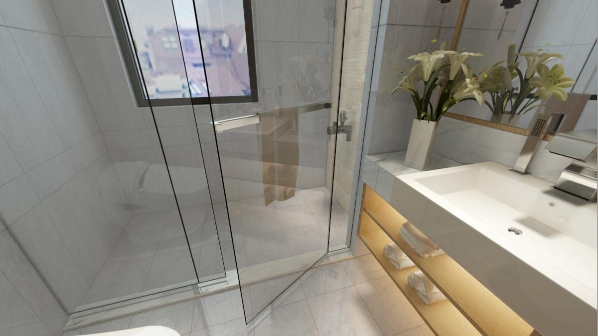 用大理石装饰的浴室,美翻了