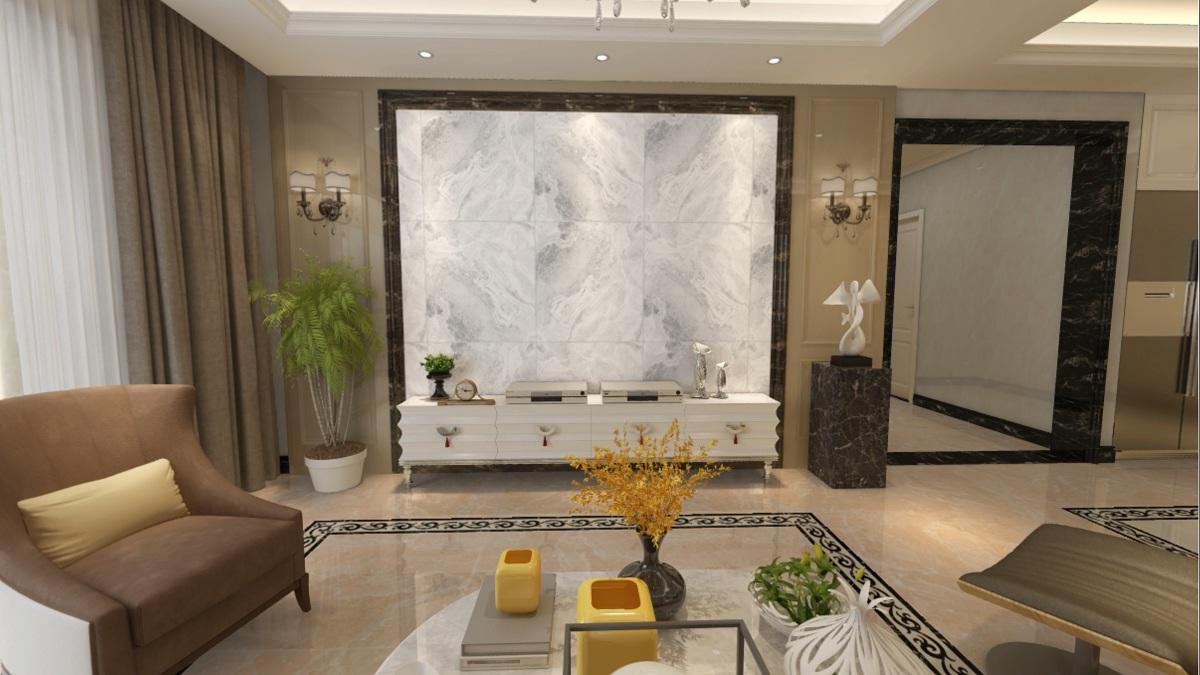 大理石瓷砖的纹理和装饰效果