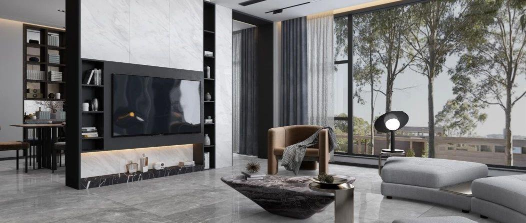 升华陶瓷丨1200×2400×9mm连纹岩板,让背景墙美出新高度