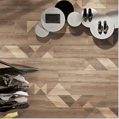 装饰木纹砖铺贴效果图之香格里拉
