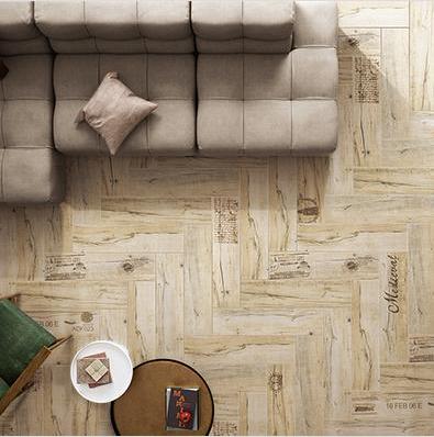 装饰木纹砖铺贴效果图之摩卡