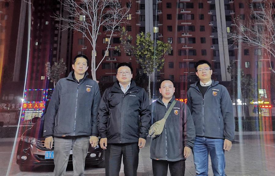 高度重视,董事长陈群先生亲临服务现场慰问一线售后人员。