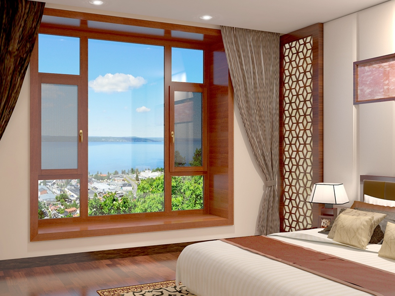 89铝包木窗纱一体系列