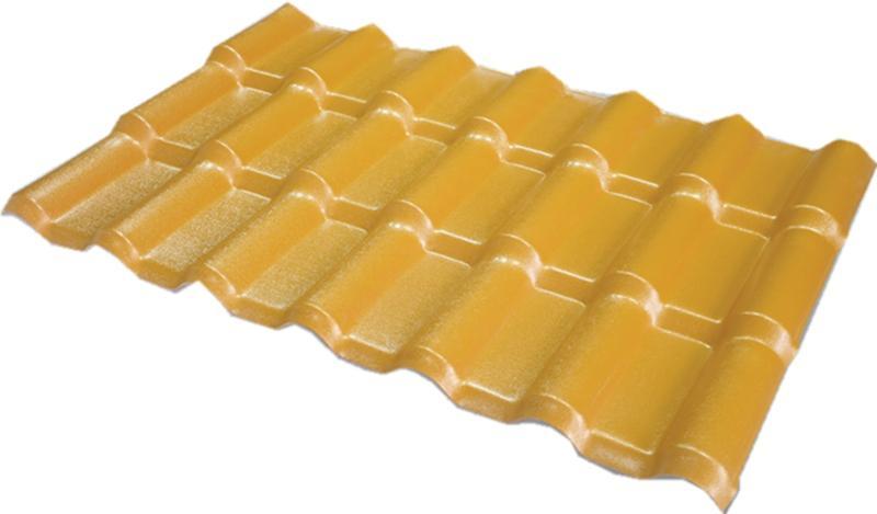 ASA合成树脂瓦(金黄面砖红底色)