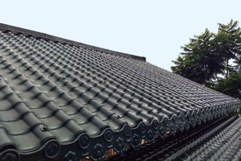 虹博虹科厂家分析古筒瓦为什么作为屋面瓦的理由