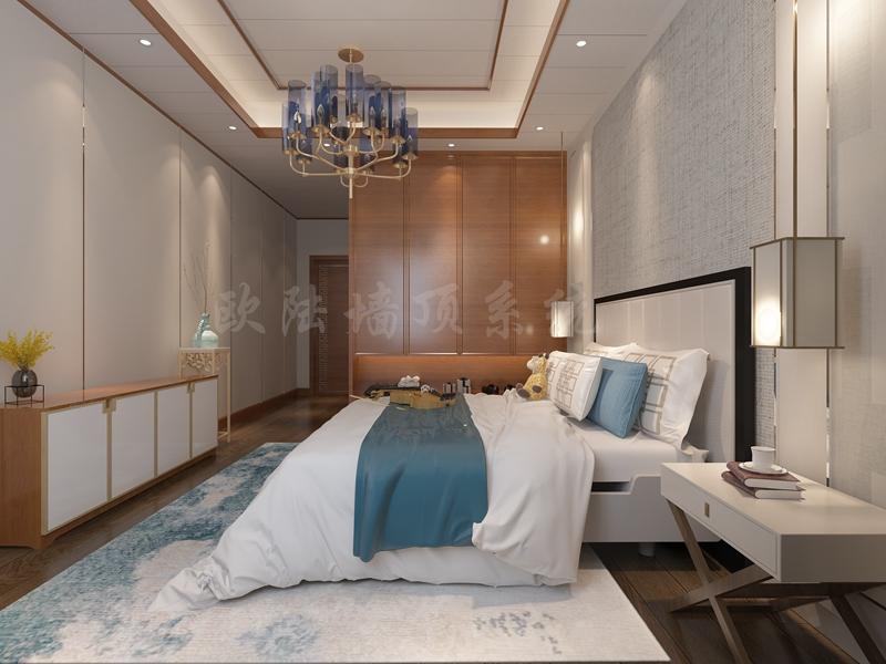 铝复合聚氨酯板卧室效果图4-全屋整装案例赏析效果图