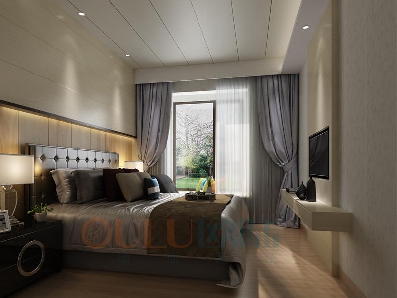 铝复合聚氨酯板卧室效果图5-全屋整装案例赏析效果图