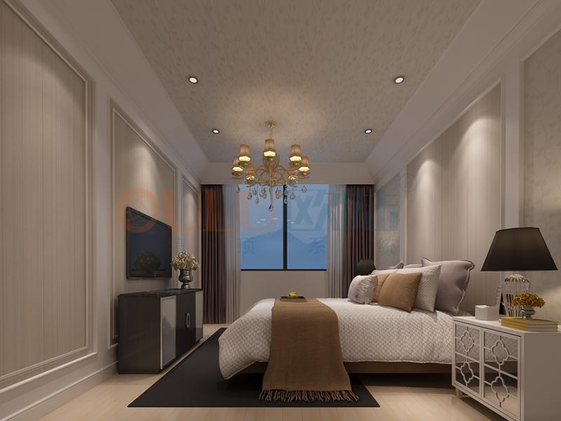 铝复合聚氨酯板卧室效果图7-全屋整装案例赏析效果图