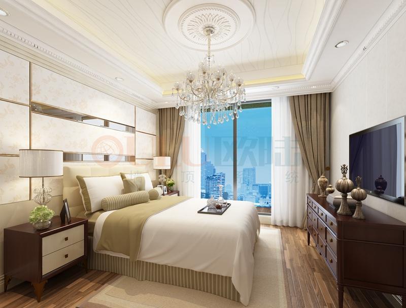 铝复合聚氨酯板卧室效果图8-全屋整装案例赏析效果图