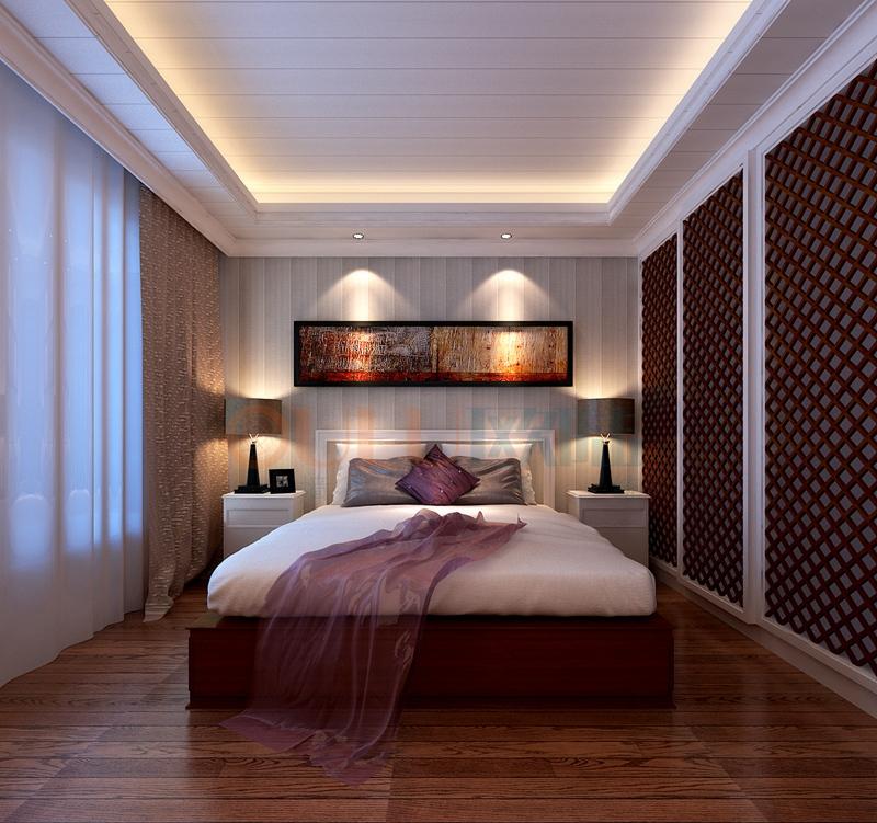铝复合聚氨酯板卧室效果图12-全屋整装案例赏析效果图