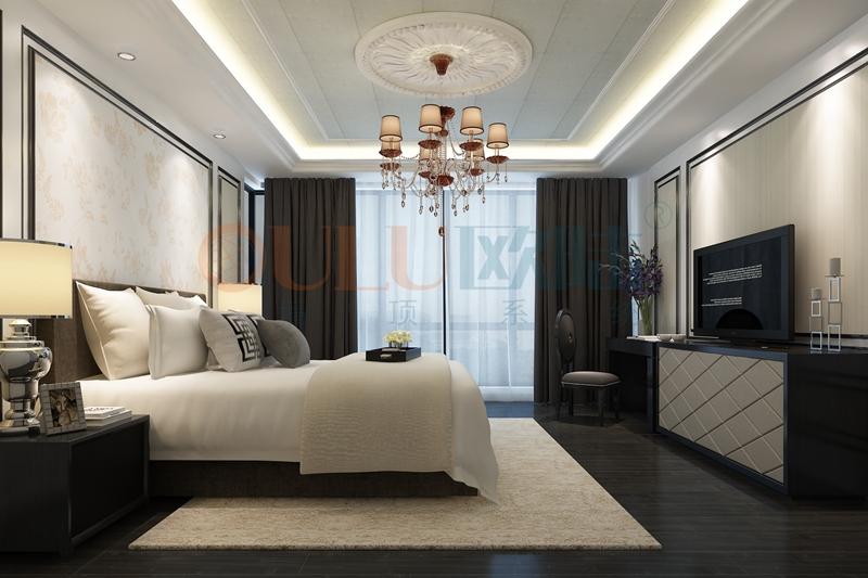 铝复合聚氨酯板卧室效果图10-全屋整装案例赏析效果图