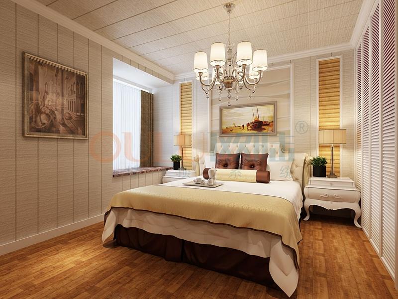 铝复合聚氨酯板卧室效果图9-全屋整装案例赏析效果图
