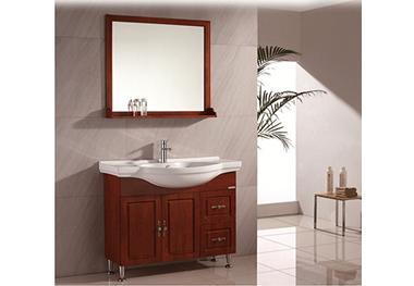 怕潮湿卫生间影响浴室柜,安装全铝浴室柜可解决!